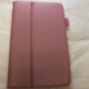 Galaxy Tab E lite folding folio cover case pink
